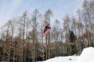圆的池塘高原滑雪场
